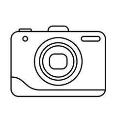 line icon photo camera vector image