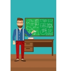 Man with chalk in hand vector