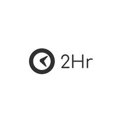 Minimal clock icon time icon two hours stock vector