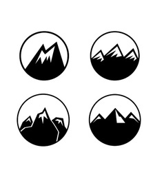 Mountain emblems set vector image