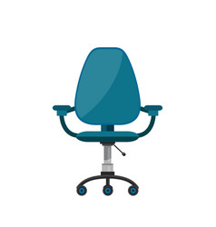 office chair flat cartoon vector image