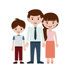 Parent and son cartoon design vector