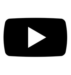 play button icon black color flat style simple vector image