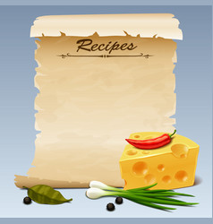 recipes icon 2 vector image