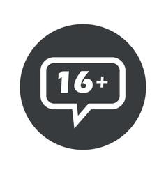 Round 16 plus dialog icon vector image