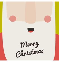 Santa christmas card vector image