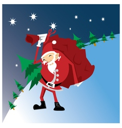 santa-work vector image