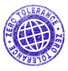 Scratched textured zero tolerance stamp seal vector