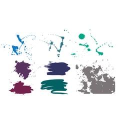 set of grunge vector image