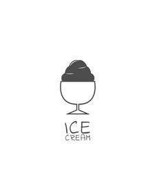 simple ice cream icon vector image