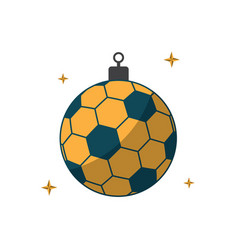 Soccer ball sport flat design icon vector
