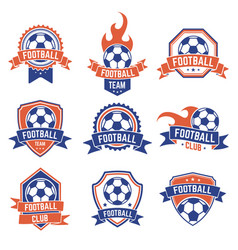 soccer club emblem football badge shield logo vector image