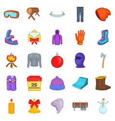 Sportswear icons set cartoon style vector