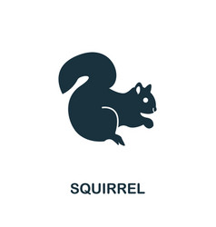 squirrel icon symbol creative sign from squirrel vector image
