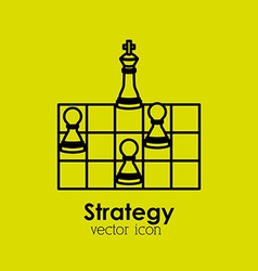strategy icon vector image