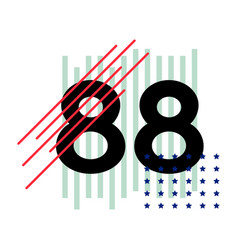 t-shirt numbers abstract vector image
