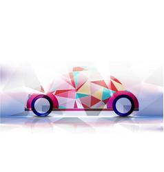 Technological geometric colorful classic car vector