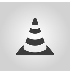 The traffic cone icon Safety and attention vector image vector image