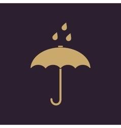 The umbrella bag icon Rain protection symbol vector