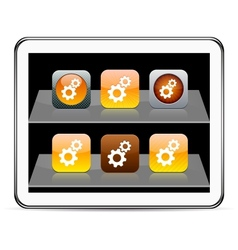 tools orange app icons vector image