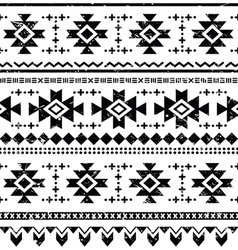 Tribal aztec retro seamless pattern vector