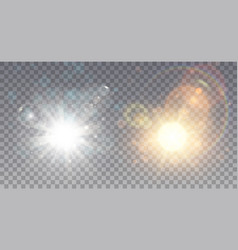 two exploding stars white and colorful vector image