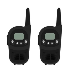 Two travel portable mobile radio set devices vector