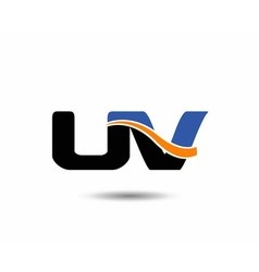 Uv company linked letter logo vector