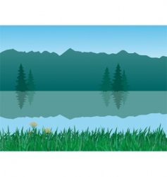 vector tranquil landscape vector image