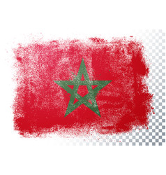 vintage grunge texture flag marocco vector image