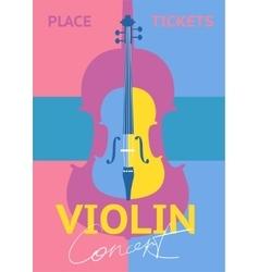 Violin Concert Concept vector image