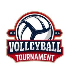 Volleyball tournament emblem template vector