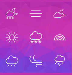 Weather outline icons set collection of rain vector