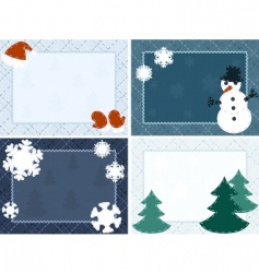 Winter postcards vector