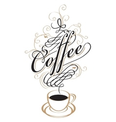 coffee cup with steam vector image