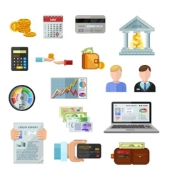 Credit Rating Icons On White Background vector image