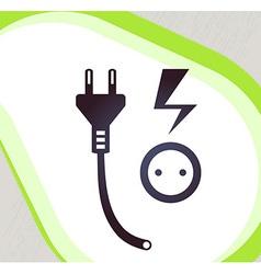 Plug and socket Retro-style emblem icon pictogram vector image