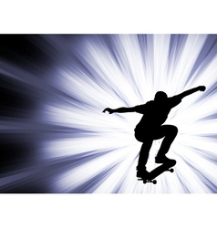 skateboarder - abstract background- vector image vector image