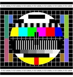 Test TV screen vector image