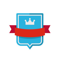 badge emperor icon flat style vector image vector image
