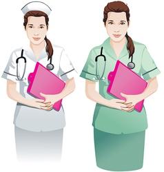 Beautiful Nurse with clipboard vector image