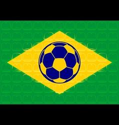 Brazil football vector image vector image