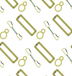 Climbing pattern belay device rope and quickdraw vector image vector image