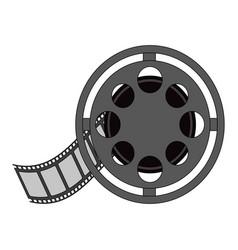 color image cartoon film roll reel vector image