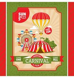 Country fair invitation card vector image