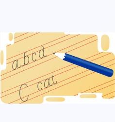 handwriting vector image