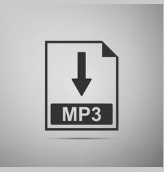 mp3 file document icon download mp3 button icon vector image