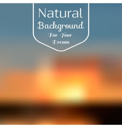 Natural background blur vector image vector image