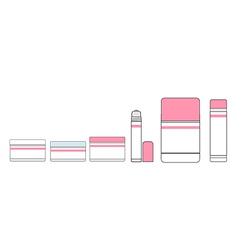 tubes of lipstick and makeup vector image