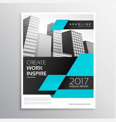 Blue and black business brochure design in a4 vector